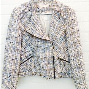 8e210fc79e Zara Jackets   Coats - ZARA BASICS tweed MOTO style jacket LARGE